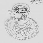 Lizz Sharr  Kaffe med havremjölk      tusch
