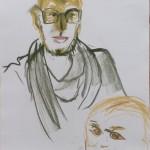 Lizz Sharr Förälder/barn kritteckning 58 cm x 42 cm 2013