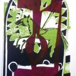 Lizz Sharr          Grön Häst                      serigrafi