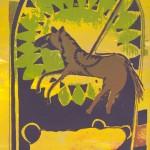 Lizz Sharr          Brun Häst                      serigrafi