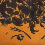 Lizz Sharr:                       Barnets ögon               karborundum på masonit